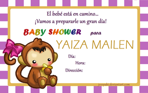 Baby Shower Monkey baby by JessYuki