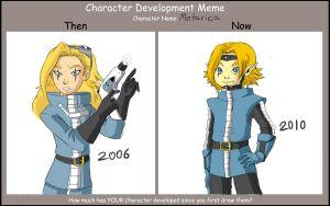 Character development meme by Snowflake-owl