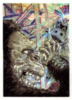King Kong Escapes Puzzle Card by fbwash
