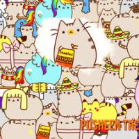 Pusheen cat wall :B by RooCiiBiebs