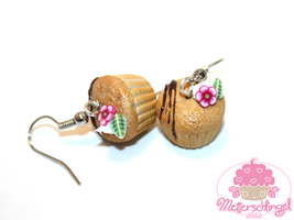 Flower Cupcake Earrings by Metterschlingel