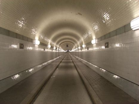 Old Elbe Tunnel by qroot-stock