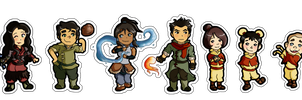 Chibi Legend of Korra Stickers by YellowWatermelon
