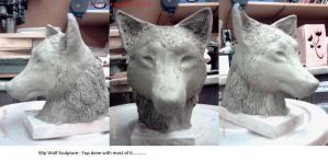 Wolf Sculpture WIP 4 by obsidianEMOtion