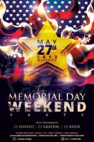 Memorial Day Flyer Template by koza30
