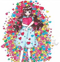 colorful heart by Choulaphone