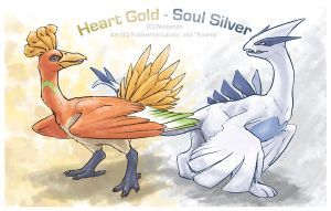 Lugia and Ho-oh by Kezrek