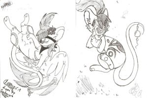 Two TFM Traditional drawings I did the other day by MataTheSporeFanatic