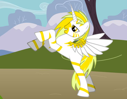 MLP: Righteous White Horse of Conquest by EqFAzrael
