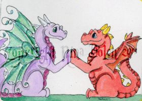 Nice to Meet You ACEO by The-GoblinQueen