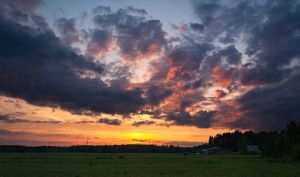 Evening Clouds by JoniNiemela