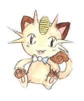 Meowth doodle~ by Mico-tan