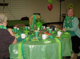 It's Not Easy Being Green table at our Tea Social by tkoverkamp