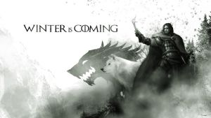 Jon Snow and Ghost - A Game of Thrones by DarrenGeers