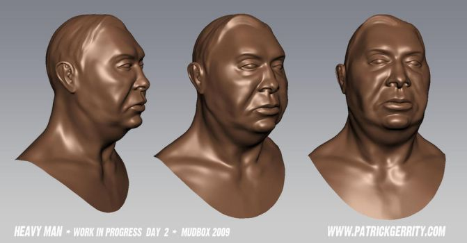Head Model in Mudbox - Day 2 by mebooky