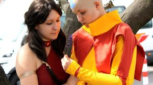 Aang and Katara Cosplay I by Honeyeater