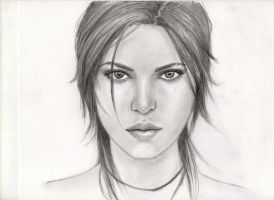 Tomb Raider Speed sketch! by Pencilsketches