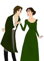 Mr. Darcy courts Ms. Elizabeth by Nonsensicle