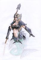 Siren in armor by Armel