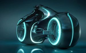 Tron Light Cycle HD by retrozomboy