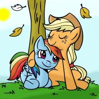 Rainbow dash and Applejack by Mast88