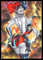 NU 52 HARLEY QUINN PERSONAL SKETCH CARD 2 by AHochrein2010