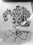 Tree of life with rod and snake wip2 by Tattoo-Design