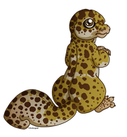 little Leopard gecko by Ardengrail
