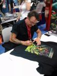 Kevin Eastman Signs Cliff England's TMNT Raphael by CliffEngland