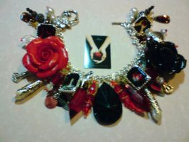Twilight saga charm bracelet by lunaroak