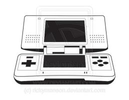 Vector: Nintendo DS Lineart by rickymanson
