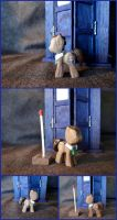 Doctor Whooves Minifigure in Walnut by xofox