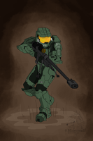 Master Chief by Minerwolf