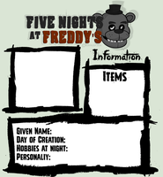 .:Five Nights at Freddies:.:Character Template:. by Xbox-DS-Gameboy
