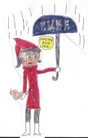 Kitty Katswell in the rain by dth1971