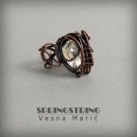 Wire wrapped copper ring - ARIES by VesnaMaric