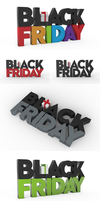 Free black friday 3D text by pixaroma