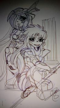 Wip: kanon x priss by ExcaliburRose