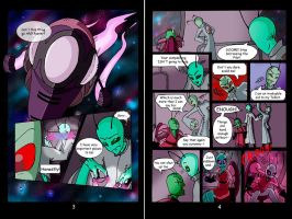 LandFall Pages 3+4 by Invader-Candie