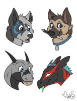 caninehybrid headshots batch1 by Miss-Melis