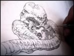 Tentacles + Teeth- WIP sketch by andybrase