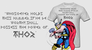 Avenger Thor's Hammer T Shirt by Enlightenup23