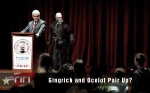 Gingrich and Ocelot Pair Up? by Snakesan