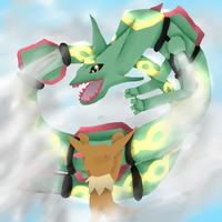 PMD boss battle rayquaza by pokebulba