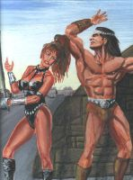 conan and warrior woman by carlmann