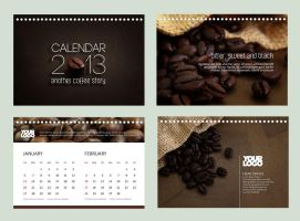 Calendar 2013 - Coffee Story by freepsdcorner