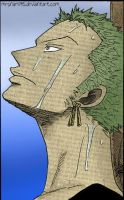 Roronoa Zoro [6] -colored- by MrsNami95