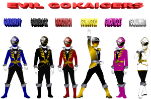 Evil Gokaigers for Pikatwig by rangeranime