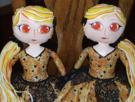 Candy Corn Twins - Close up by SassyPheonix