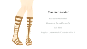 Summer Sandals DL~~~ by ZerevinaNatalia